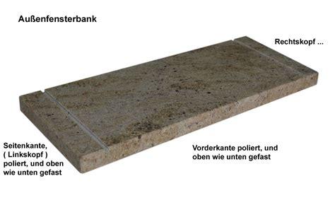 naturstein fensterbank außen einbauen fensterbank au 223 en granit harzite