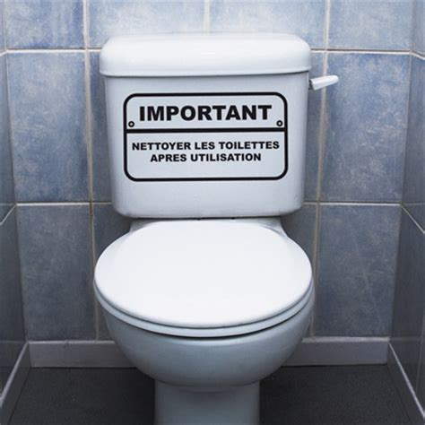 Nettoyer Toilettes Très Sales by D 233 Coration Wc Stickers