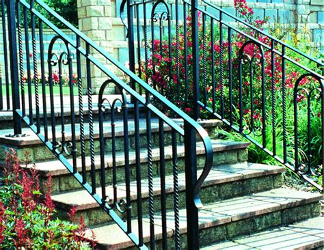 Rod Iron Handrails Outdoor Railings Wrought Iron Works