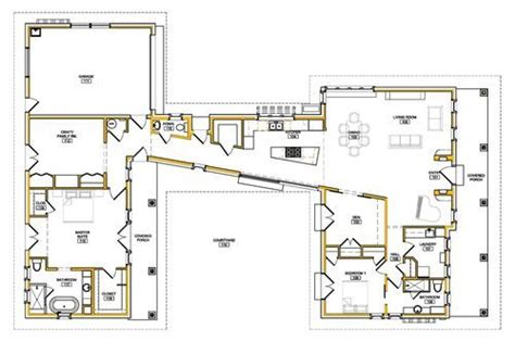 House Plans Courtyard Passivhaus Retrofit Love The Two Wings Connected By The