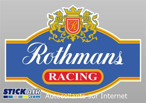 rothmans porsche logo sticker rothmans racing en vinyle imprim 233 deco