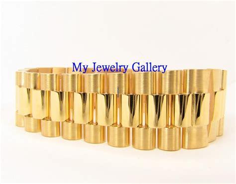 rolex aftermarket 18k yellow gold bracelet band for mens