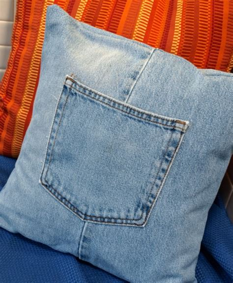 How To With A Pillow by Make A Denim Pillow From Repurposed