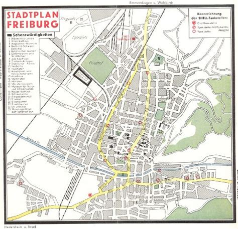 map of freiburg company road maps from freiburg germany