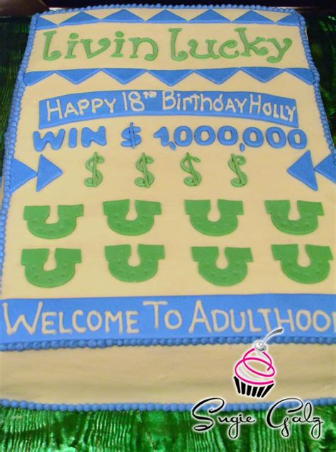 themes of lottery rose scratch off lottery ticket birthday cake in austin texas