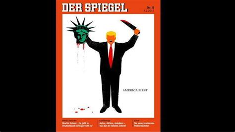 dekor spiegel donald beheading statue of liberty german magazine