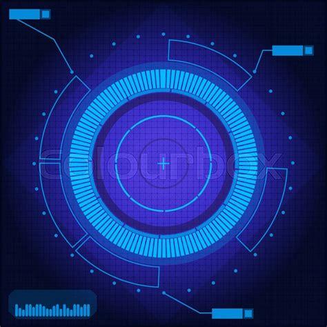 sci fi background sci fi futuristic blue technology background vector