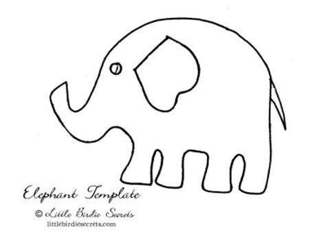 elephant template printable inkingpink pink elephants on parade