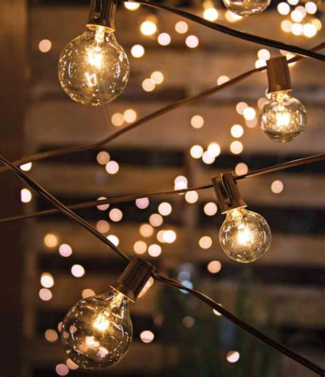 Cafe Style String Light Set 10 Lights 10 8 Feet End To String Cafe Lights