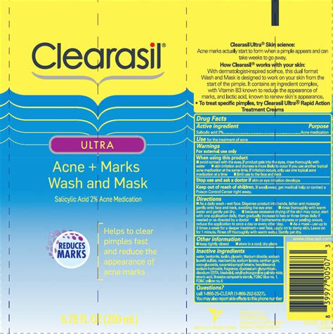 Label Ultra 200ml Dinosaur clearasil ultra acne plus marks wash and mask lotion reckitt benckiser llc