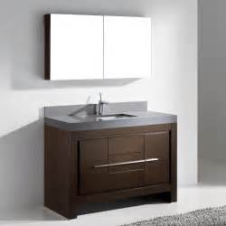 48 bathroom vanity sink madeli vicenza walnut 48 quot modern single sink bathroom