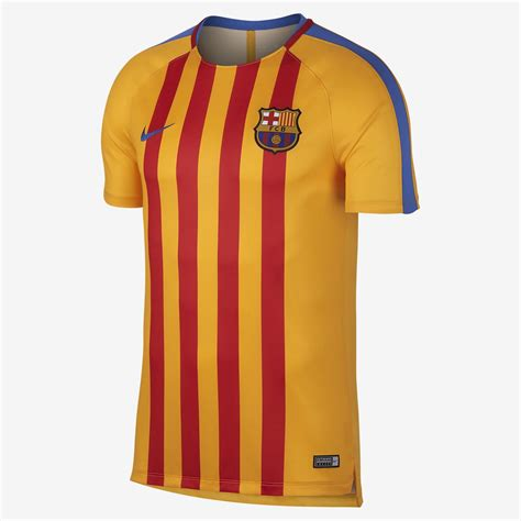 barcelona uniform barcelona 17 18 senyera pre match shirt revealed footy