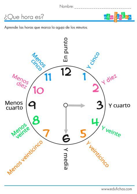 la casa libro horario actividades reloj hojas para aprender las horas