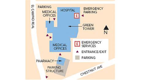 san francisco kaiser map south san francisco center cus map kaiser