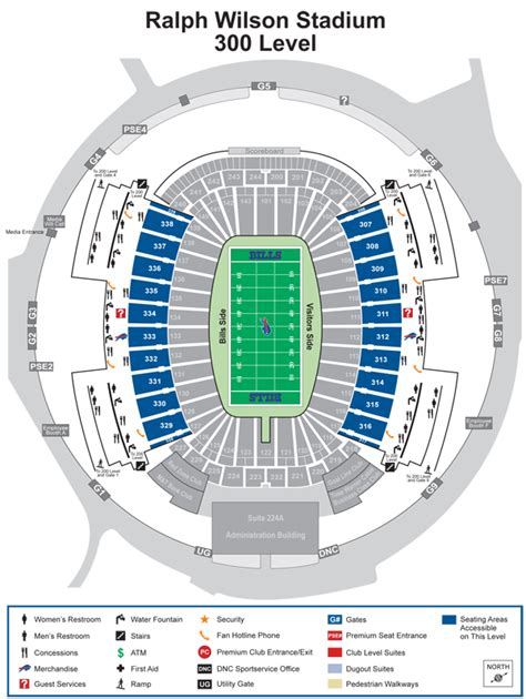ralph wilson stadium detailed seating chart