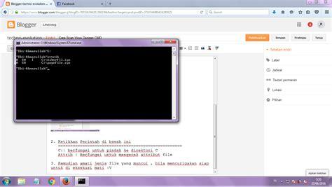 tutorial hack facebook dengan cmd cara scan virus dengan cmd techno evoution
