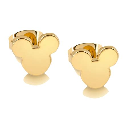 disney couture mickey mouse earrings in gold at jewellery4