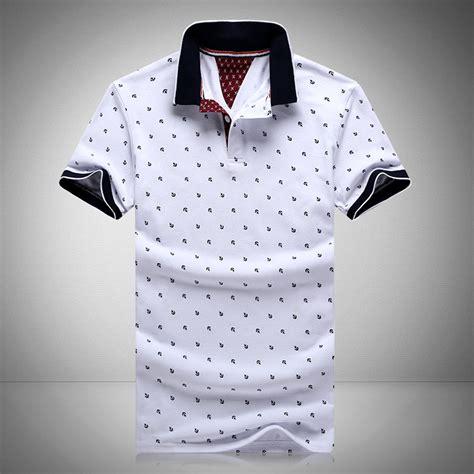 Printed Sleeve Polo Shirt 2016 new brands mens printed polo shirts brands 100