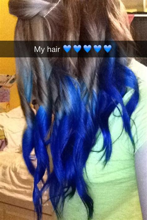electric blue splat hair color hair dye splat dark brown hairs