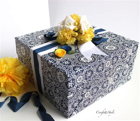 Wedding Gift Wrap by Gift Wrap Inspiration Blue Yellow Silver Wedding Wrap