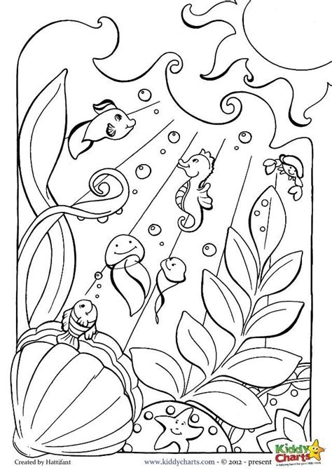 ocean coloring page coloring page for kids