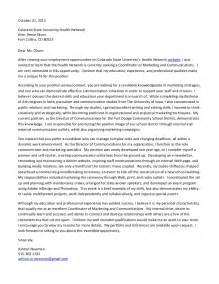 Cover Letter For Communications Cover Letter Csu Coordinator Of Marketing And Communications