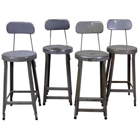 set of four counter height industrial stools at 1stdibs - Industrial Counter Height Stools