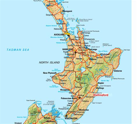 geography blog new zealand map north island for geography
