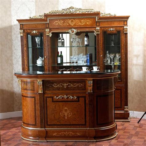 at home bar furniture floor to ceiling bar cabinet for home with glass shelf and counter drink cooler