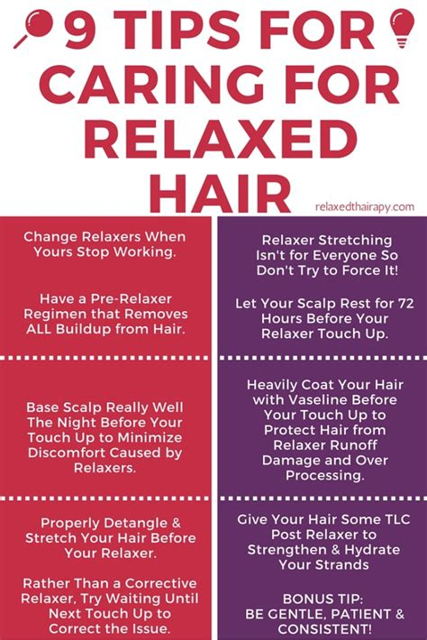 Relaxer Hair Care Tips From The Pro by 9 Tips For Caring For Relaxed Hair A Day By