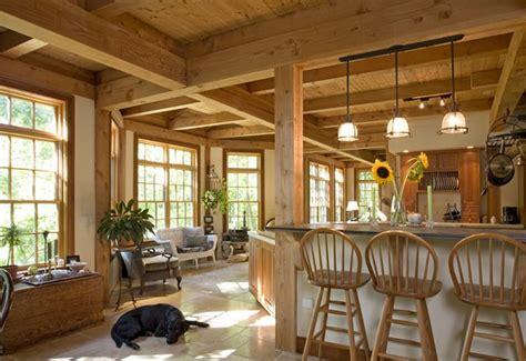 highland lake post and beam timber frame home het post beam houtbouw systeem moderne houten woning