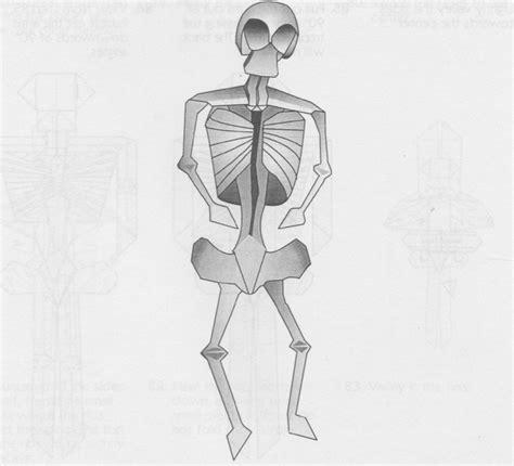 Skeleton Origami - skeleton apatazavra schemes of origami from paper