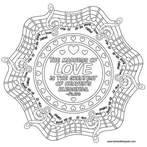 don t eat the paste love s madness mandala to color