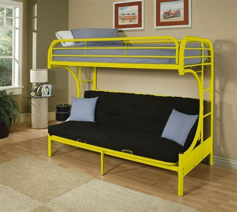 Eclipse Collection Quot C Quot Shaped Style Twin Over Full Futon Tubular Bunk Bed
