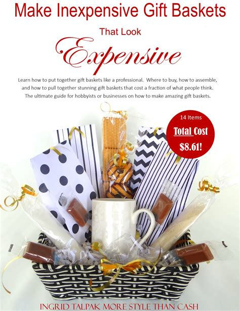 inexpensive gift make inexpensive gift baskets that look expensive