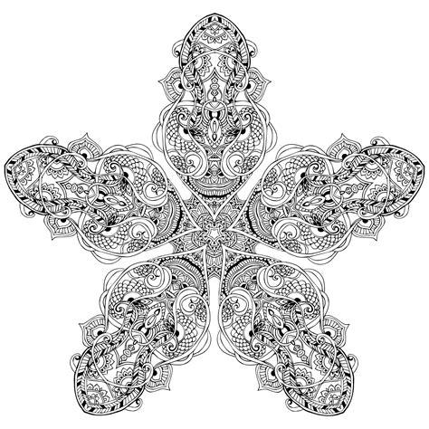 image gallery mandala star vegetal star mandala to color by anvino new mandalas