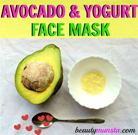 easy diy masks recipes hydrating avocado and yogurt mask recipe beautymunsta