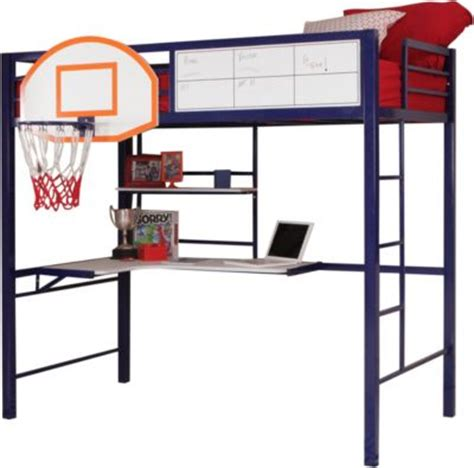basketball bed powell hoops metal basketball loft bed homemakers furniture