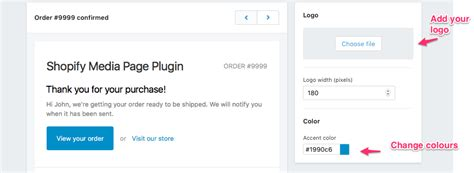 shopify email templates add your logo and color scheme