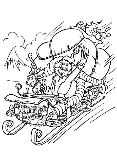 printable christmas coloring pages grinch the grinch steals christmas gifts coloring pages