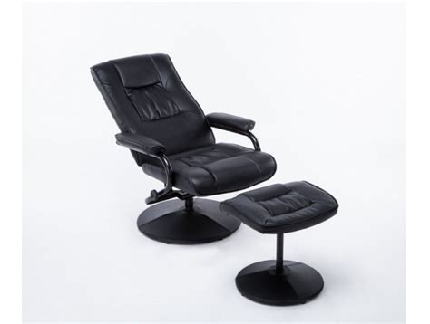 Leather Swivel Chair And Stool by Birlea Black Faux Leather Swivel Chair And Stool