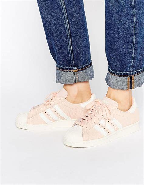 adidas adidas originals blush pink superstar 80 s trainers