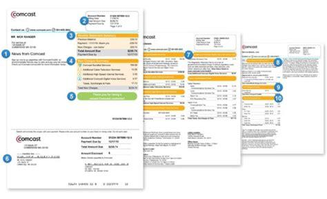 Understanding Your Bill Comcast Bill Template