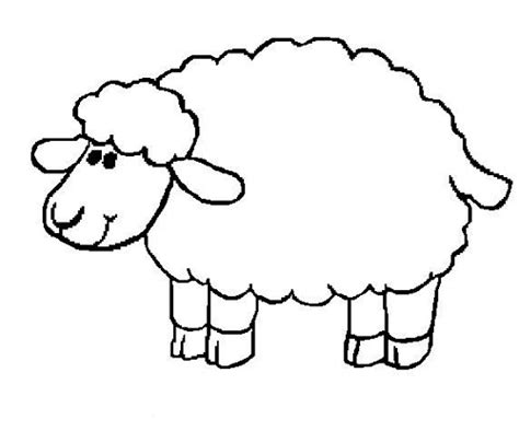 Lamb Coloring Pages Preschool | sheep coloring pages preschool nativity animals