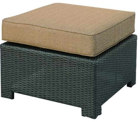 Resin Wicker Ottoman Darlee Vienna Resin Wicker Patio Ottoman Espresso