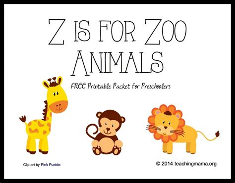 printable pictures of zoo animals 4 best images of printable zoo books for preschoolers