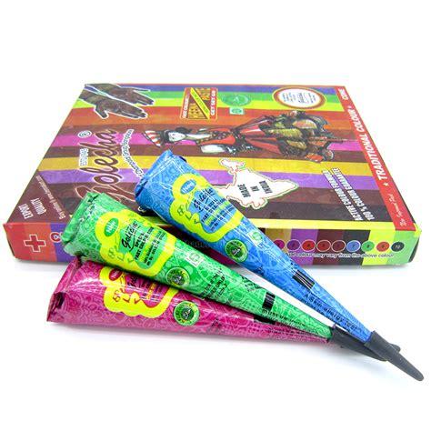 tattoo kit buy online in india aliexpress com buy 3pcs golecha colored henna tattoo