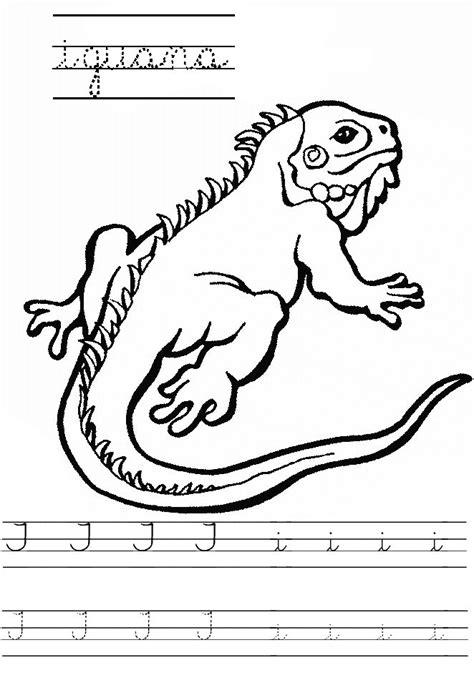 Letra I mayúscula, i minúscula. Vocal. Iguana. | Letras