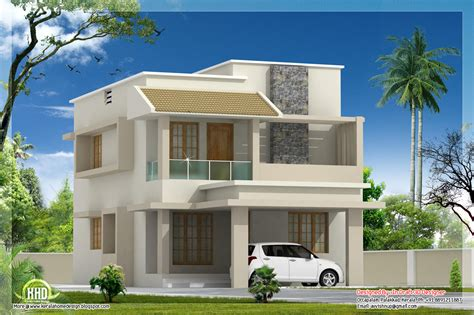 modern villa house plans 1770 sq modern villa with construction cost kerala