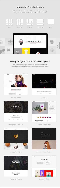 prebuilt layout for wordpress pofo creative portfolio and blog wordpress theme
